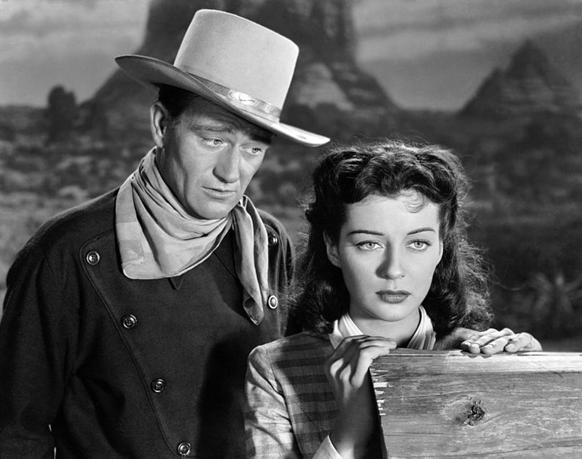 """Trailer screenshot from """"Angel and the Badman,"""" 1947."""