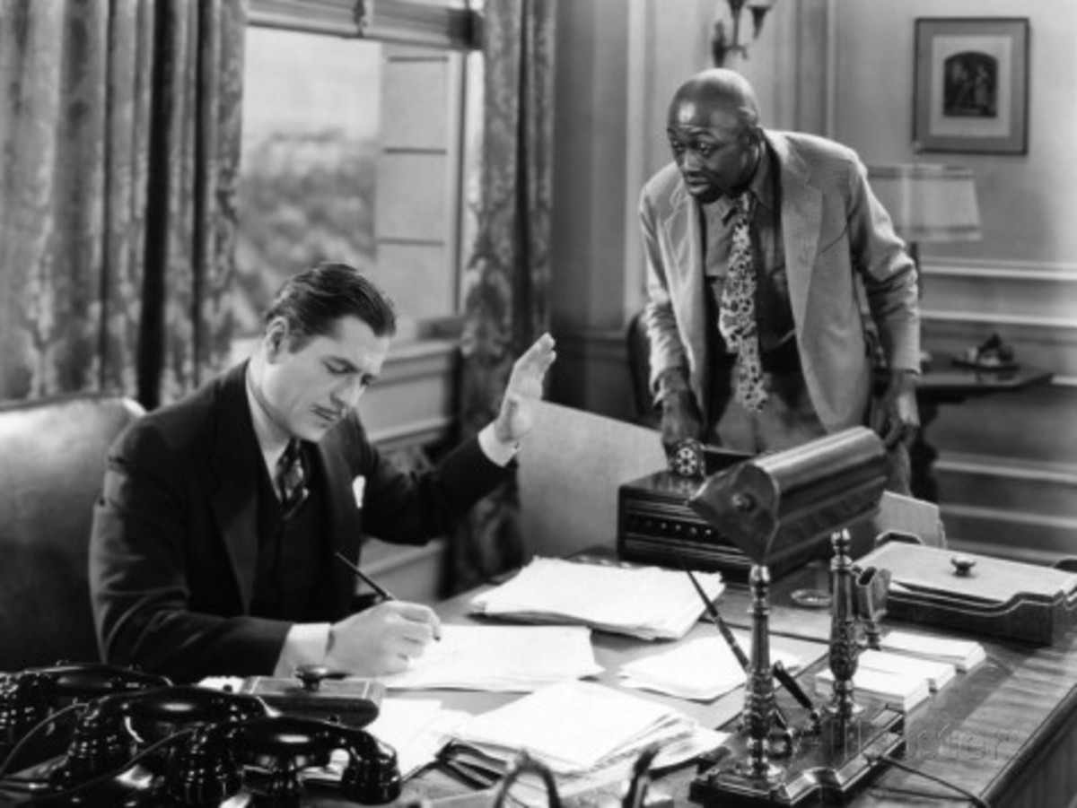 Stand Up And Cheer (1934). Warner Baxter giving the all too familiar dismissive hand gesture to Stepin Fetchit