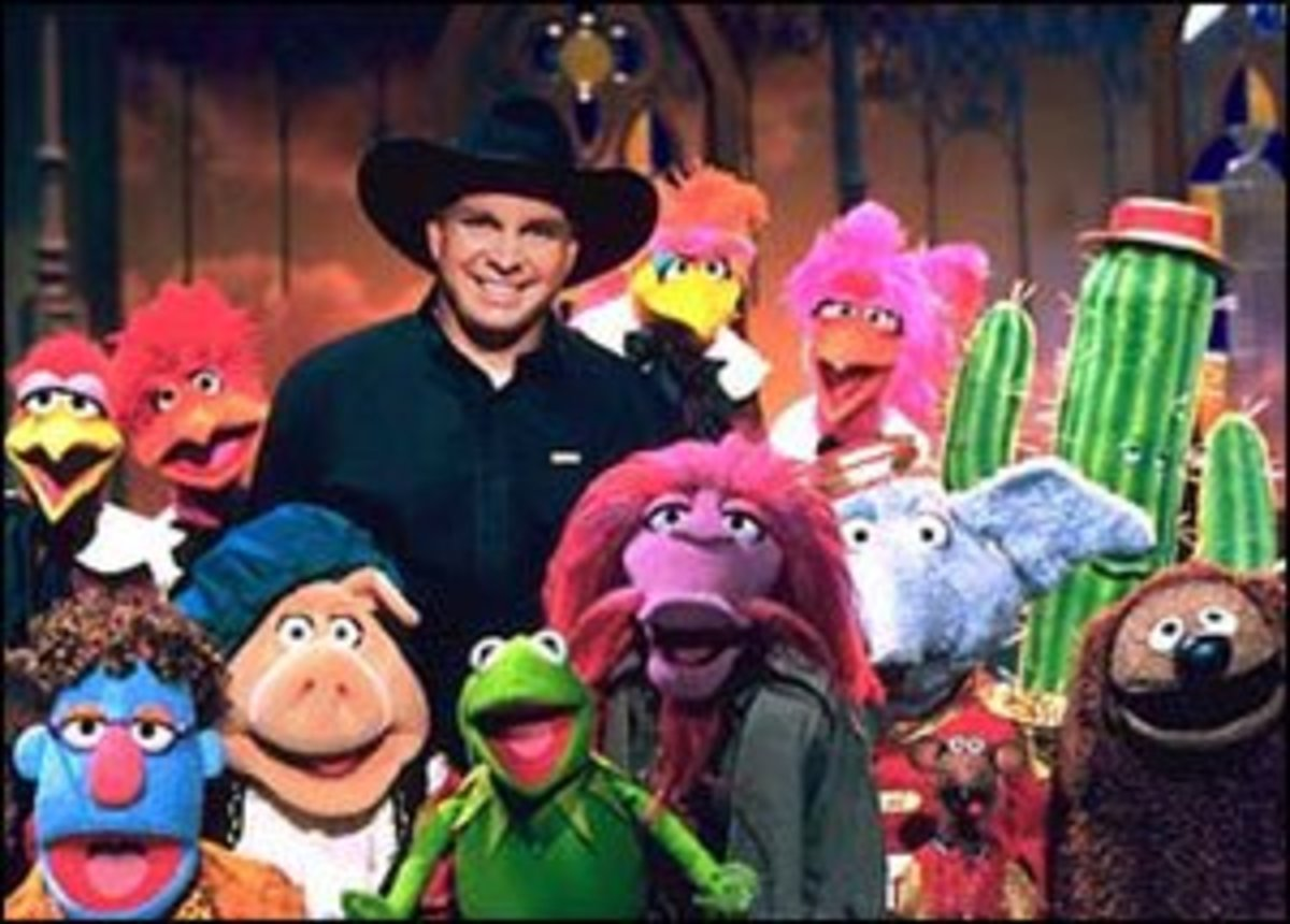 Garth Brooks with the Muppets. Hilarious hijinks ensued.