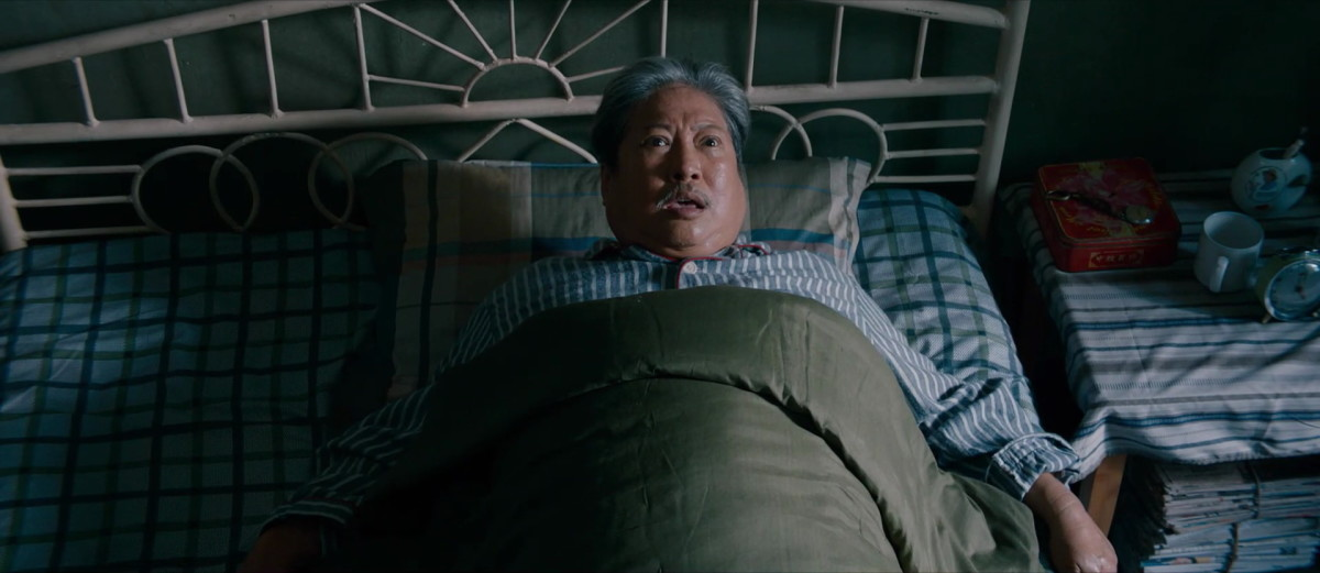 "Sammo Hung may or may not have wet the bed as Old Ding in ""The Bodyguard."""