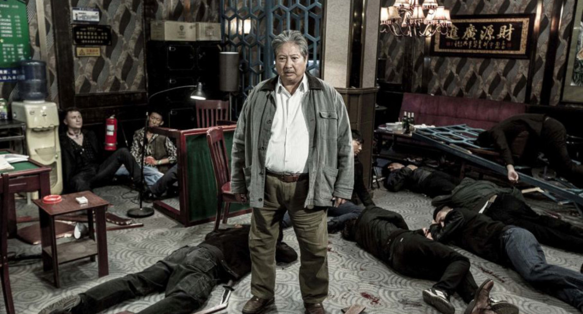 "Sammo Hung as Old Ding in ""The Bodyguard."""