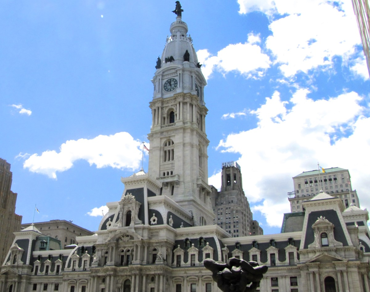 "City Hall in Philadelphia, PA.  Fields wanted his gravestone to read, ""Her lies W.C. Fields.  I'd rather be living in Philadelphia."""
