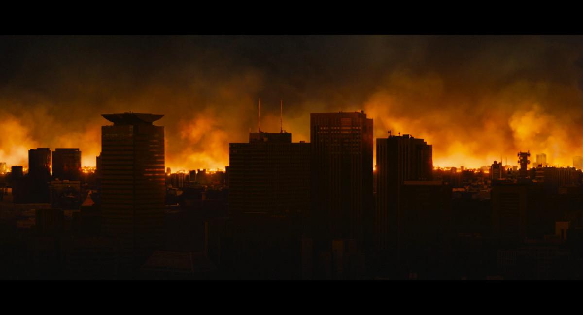 "The aftermath of atomic breath in ""Shin Godzilla."""