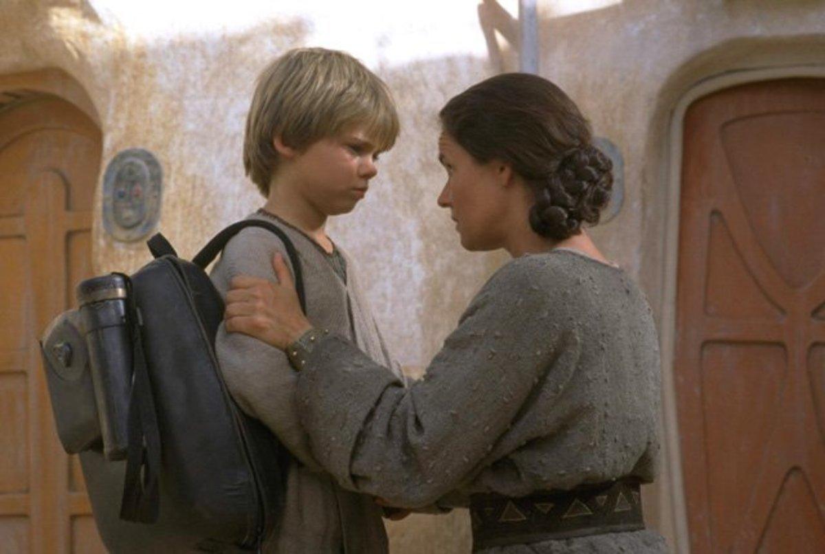 Shmi and Anakin Skywalker