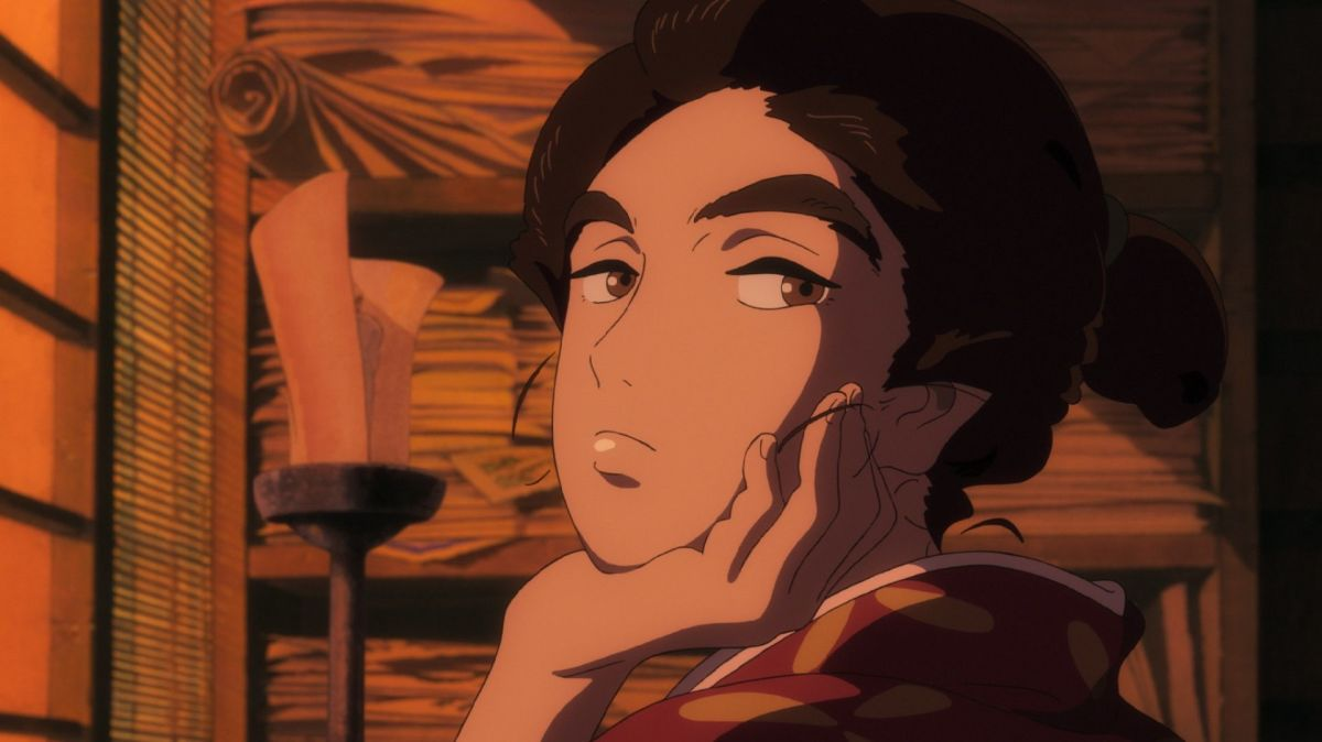 "Tetsuzo's daughter O-Ei in ""Miss Hokusai."""