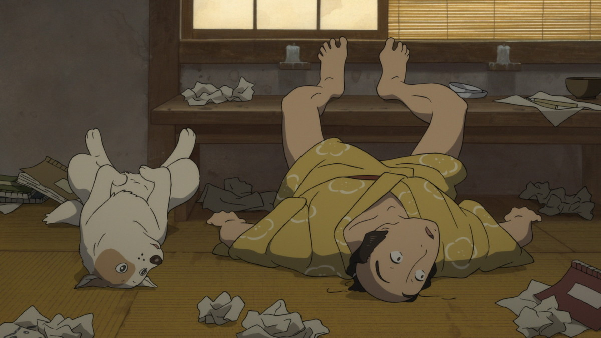 "Zenjiro (right) and his canine counterpart in ""Miss Hokusai."""
