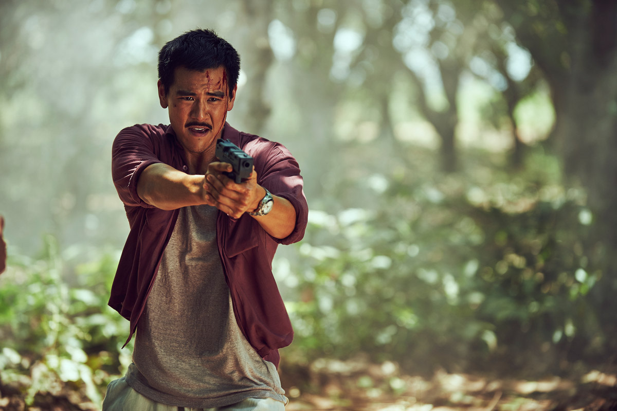 "Eddie Peng as Fang Xinyu in ""Operation Mekong."""