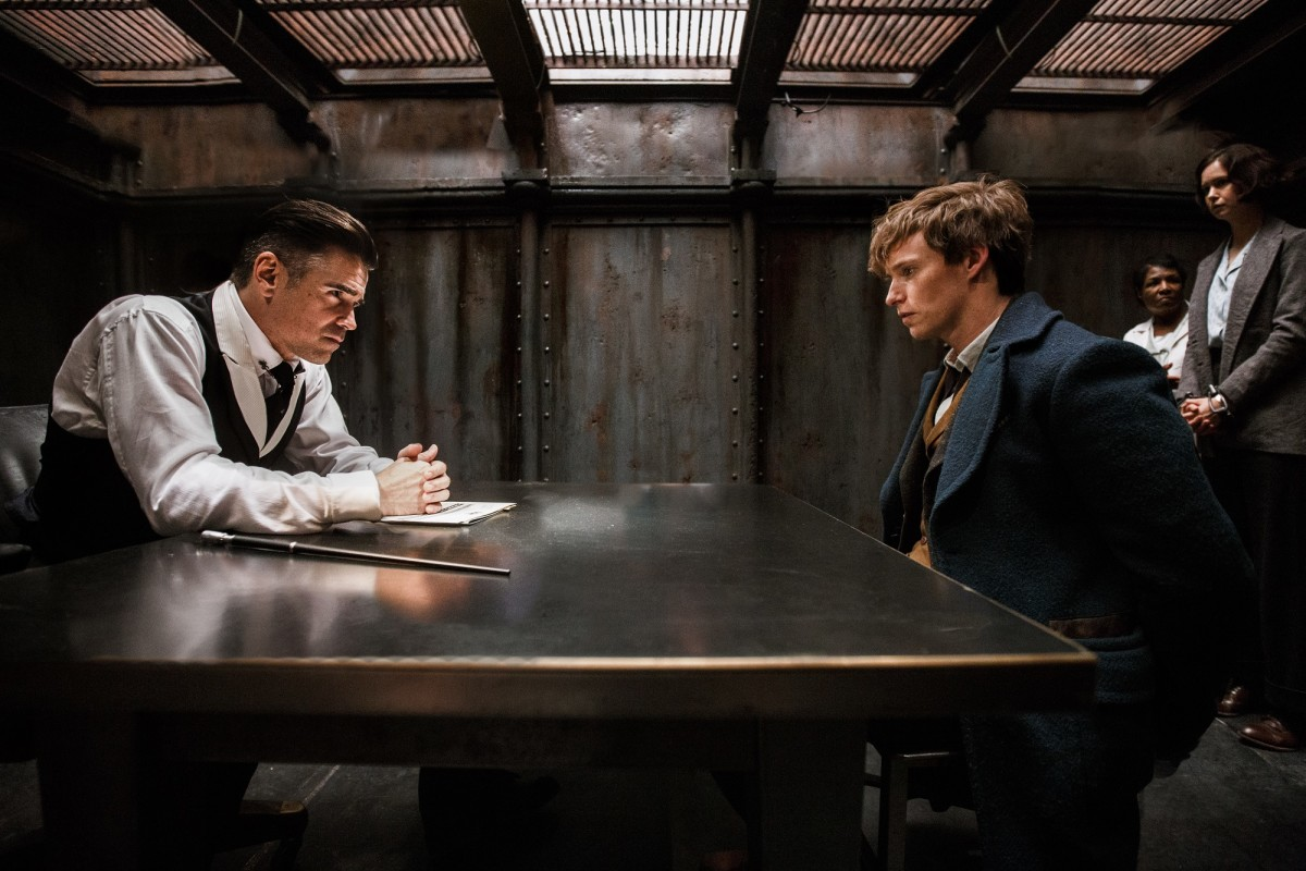 "Colin Farrell and Eddie Redmayne in ""Fantastic Beasts and Where to Find Them."""