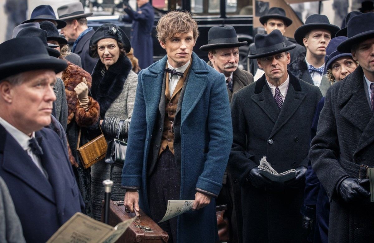 "Eddie Redmayne as Newt Scamander in ""Fantastic Beasts and Where to Find Them."""