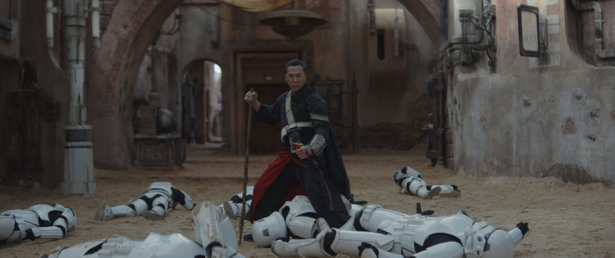 "Donnie Yen as Chirrut Imwe from ""Rogue One: A Star Wars Story."""