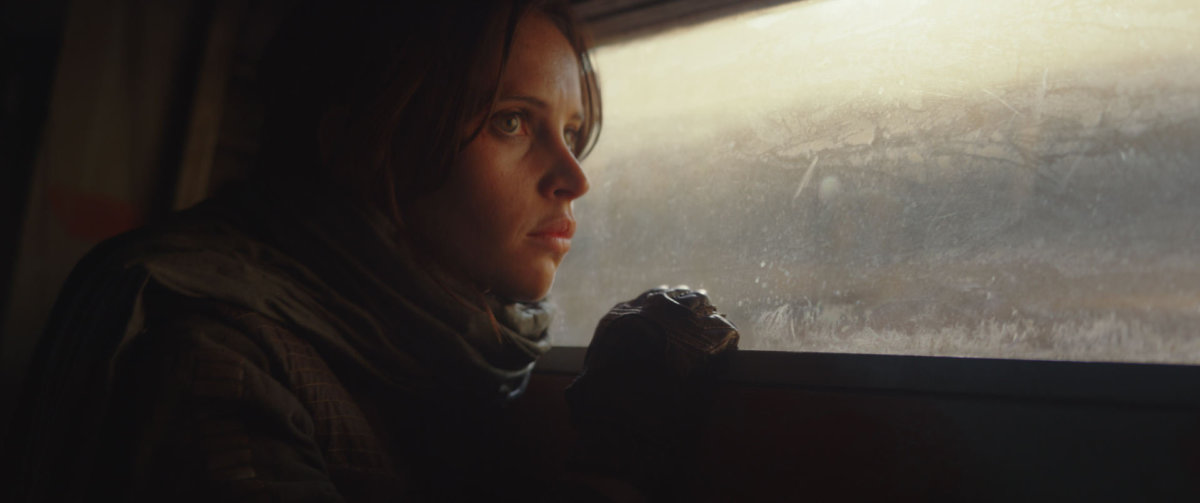 "Felicity Jones as Jyn Erso in ""Rogue One: A Star Wars Story."""