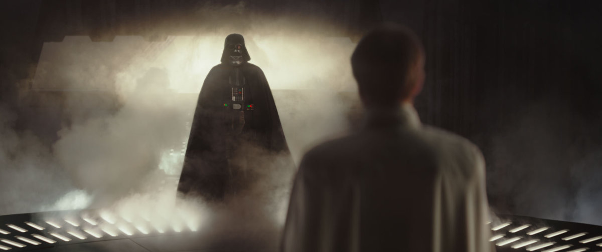 "Darth Vader emerges in ""Rogue One: A Star Wars Story."""