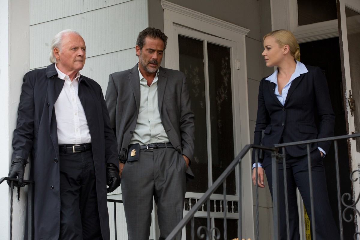 "Hands in pockets continues. Anthony Hopkins, Jeffrey Dean Morgan, and Abbie Cornish star in ""Solace."""