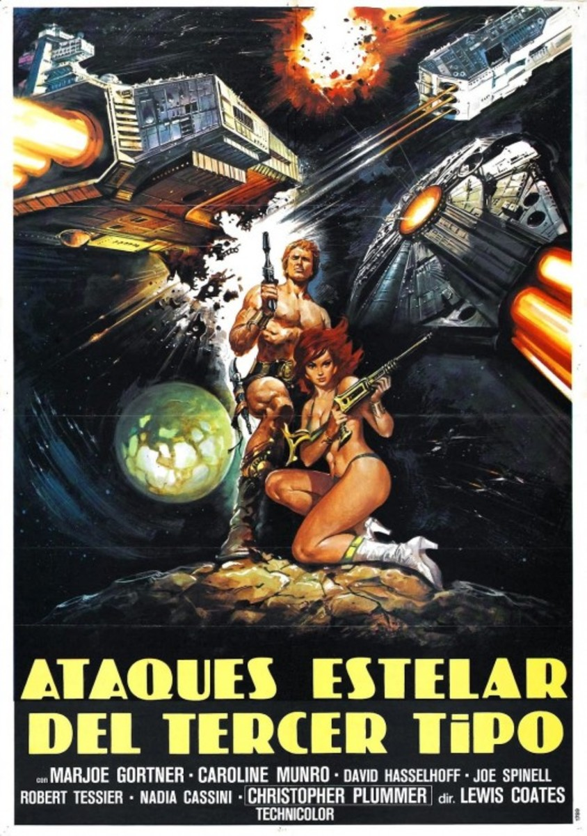 "Spanish ""Starcrash"" poster. I think the guy who painted this was watching a different movie."