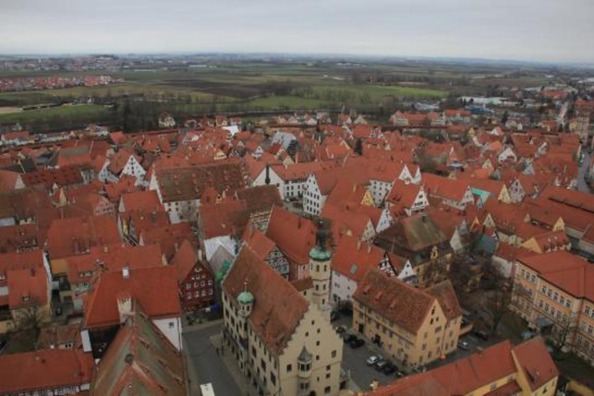 An aerial view of Munich, where much of the movie was filmed.