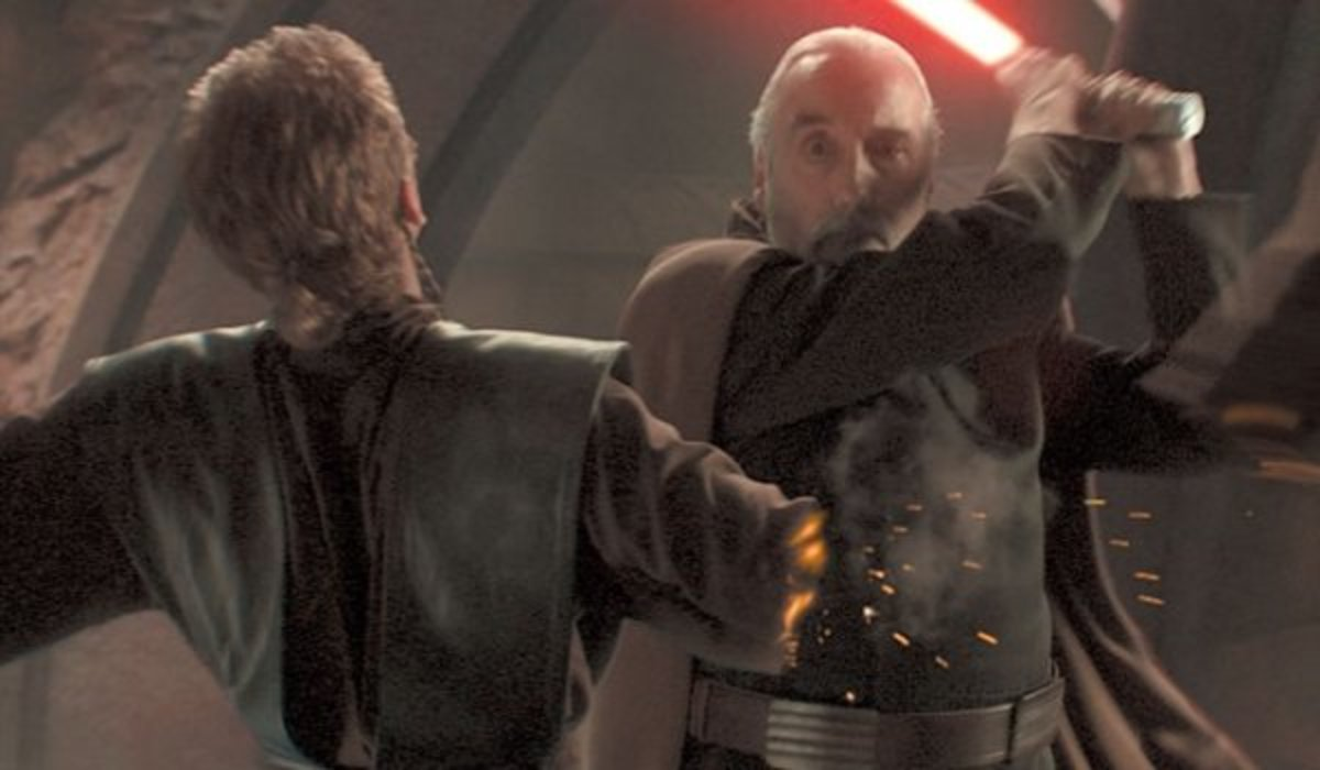 Anakin disarmed in Episode 2