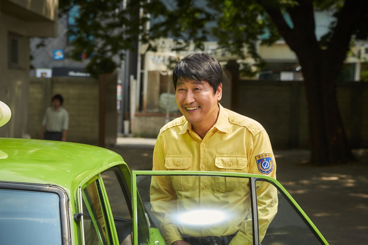 "Song Kang-ho as Kim Man-seob in ""A Taxi Driver."""