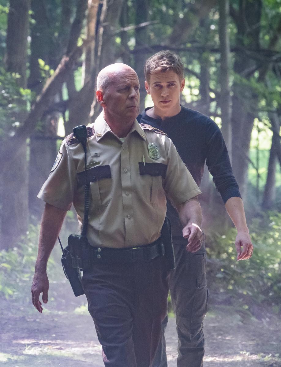 """Bruce Willis and Hayden Christensen in """"First Kill."""""""