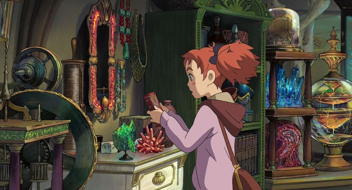 "A scene from Hiromasa Yonebayashi's directorial debut ""Mary and the Witch's Flower."""