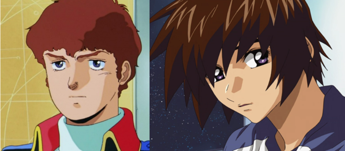 Amuro Ray (left) and Kira Yamato (right).