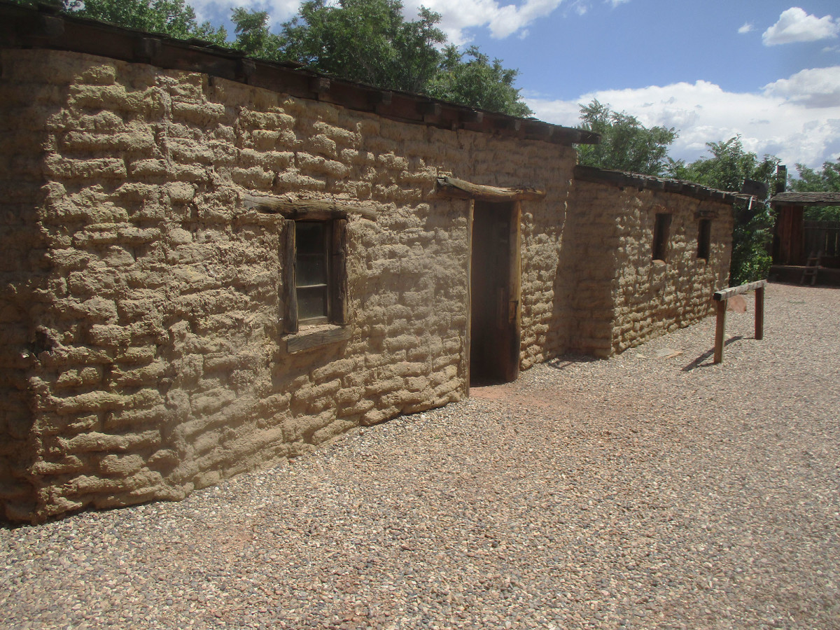 This adobe building sits right in the heart of Kanab, photo by author