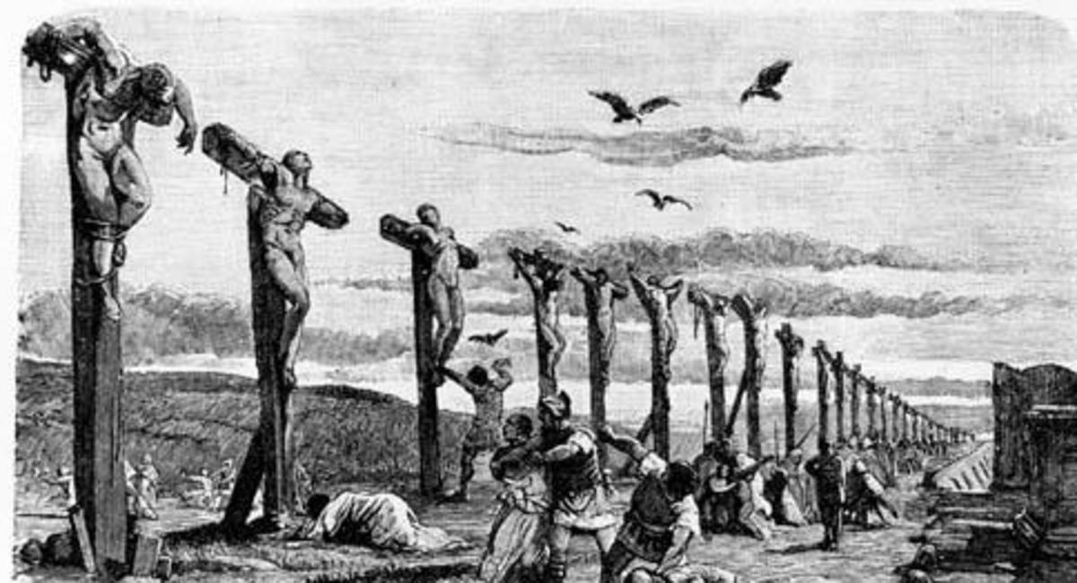 Depiction of the the Roman crucifixion.