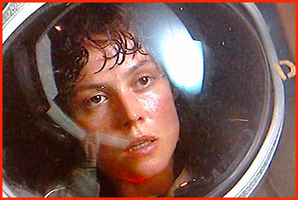 """In """"Star Wars"""" Carrie Fisher fought against the Galactic Empire.  In """"Alien,"""" Sigourney Weaver had to take on a nearly indestructible alien creature who appeared to be unstoppable."""