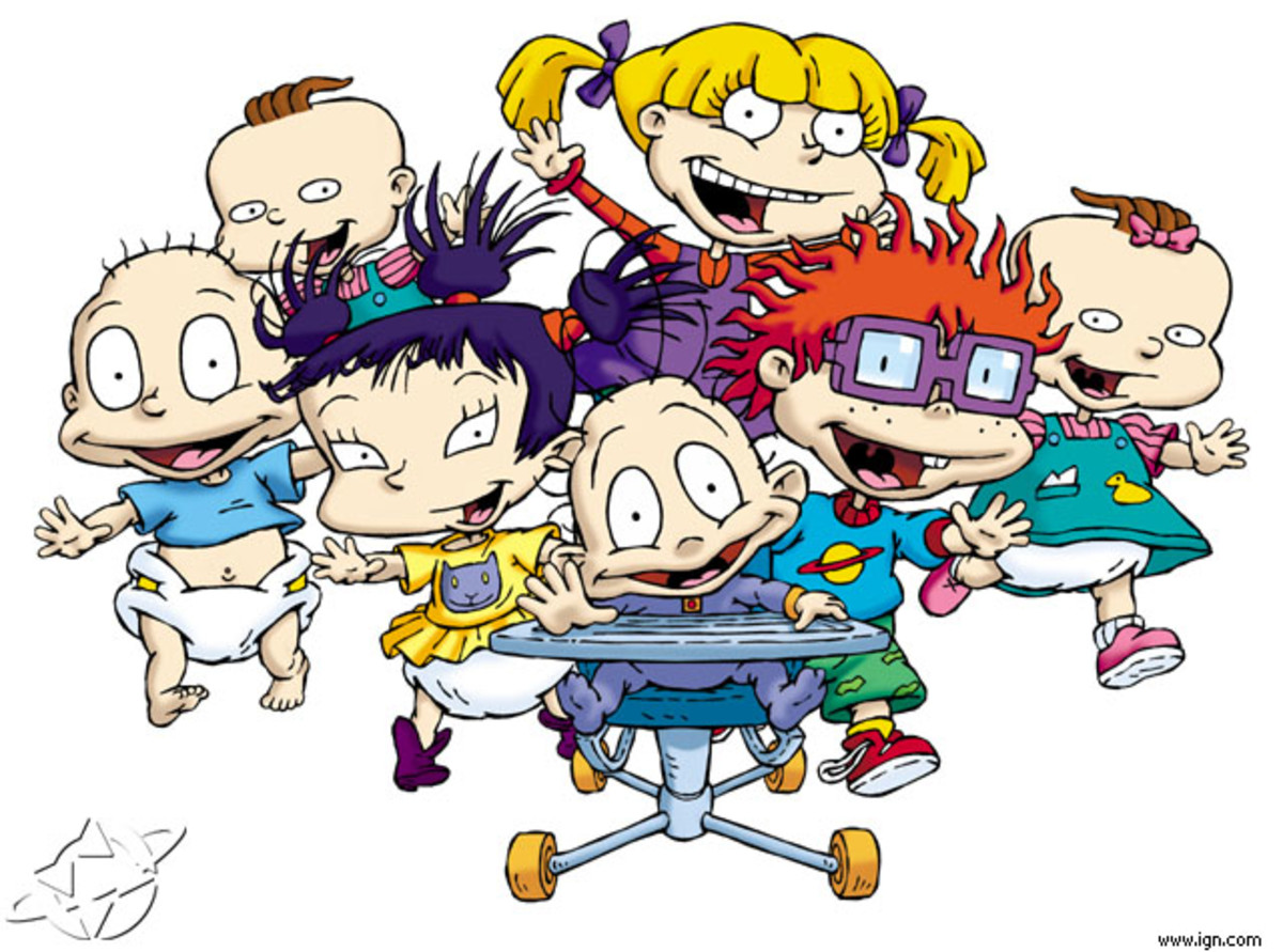 All the children in the Rugrats series.