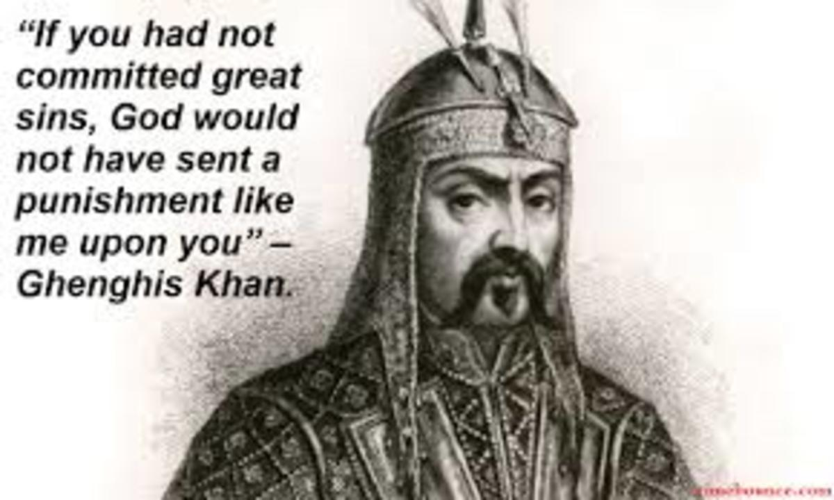 Not a single big Western movie about Ghengis Khan exists! Such wasted potential.