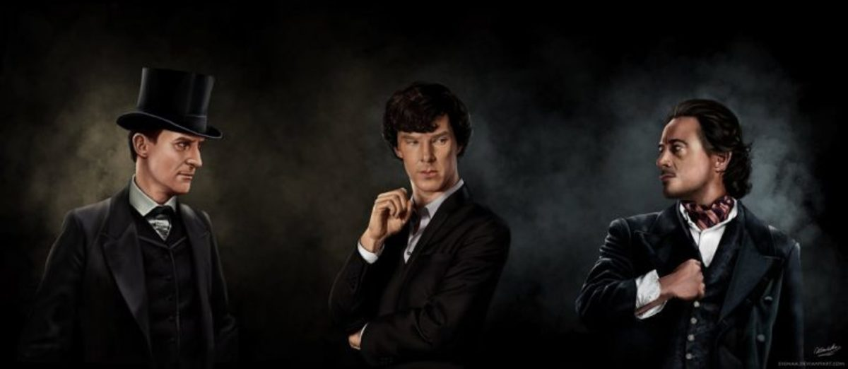 Jeremy Brett, Benedict Cumberbatch, and Robert Downey Jr.