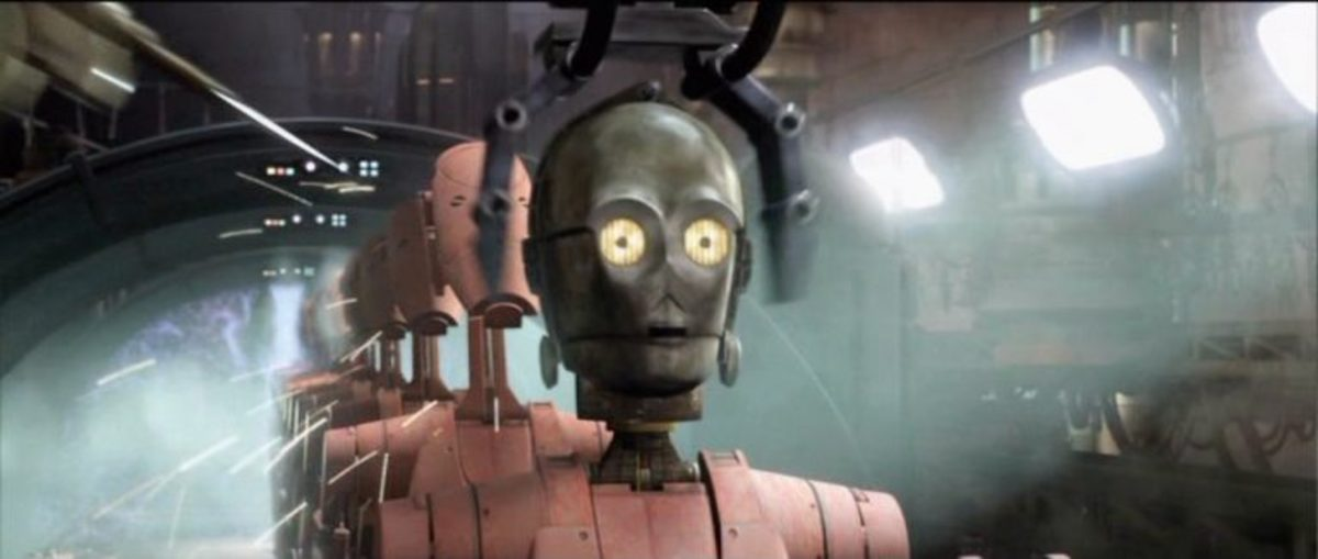 There are times C-3PO has no idea where his head is