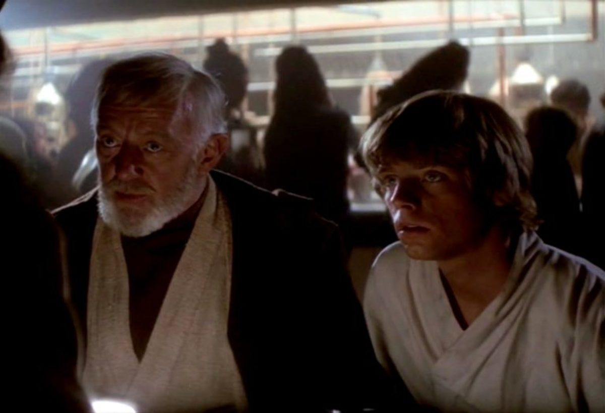 Obi-Wan and Luke at a wretched hive filled with scum and villainy