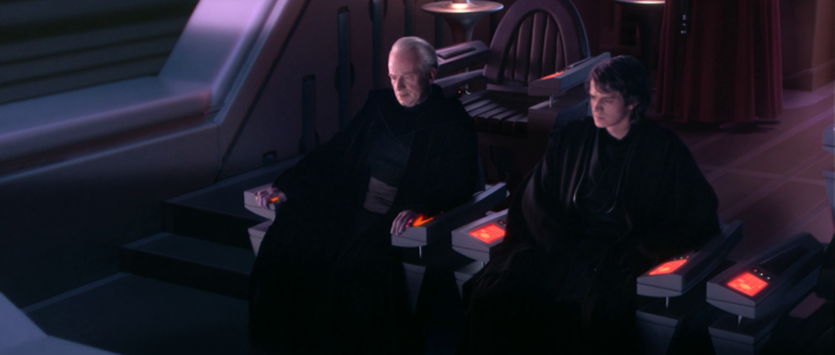 """Some people say 'path to the darkside', I say 'fast track to management'."" - Chancellor Palpatine, The Seven Habits of Highly Effective Sith"