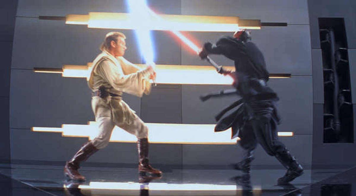 I defy you to find a better lightsaber battle in the entire saga.