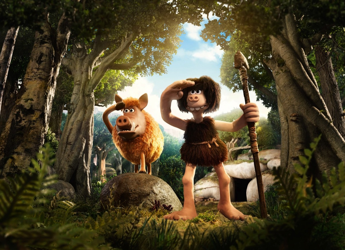 "Hognob and Dug from Aardman's, ""Early Man."""