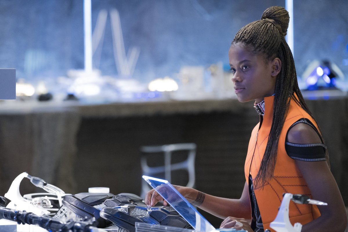 Letitia Wright as Shuri, my favorite new character in the MCU. I'm hoping she gets a prominent part in Infinity War.