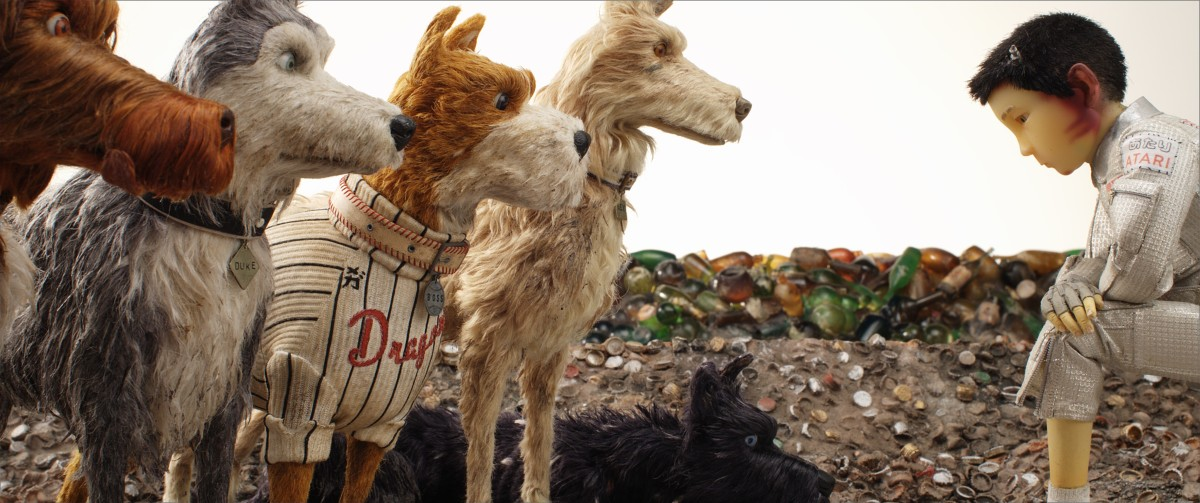 "King, Duke, Boss, Rex, Chief, and Atari in, ""Isle of Dogs."""