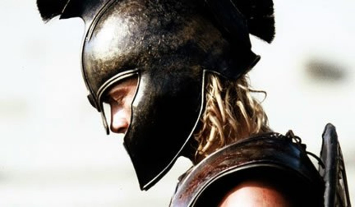 Achilles in full armor
