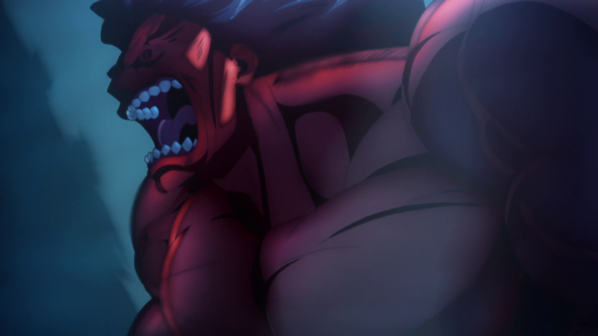 Among the first foes Shirou and Saber must overcome is the ferocious Berserker.