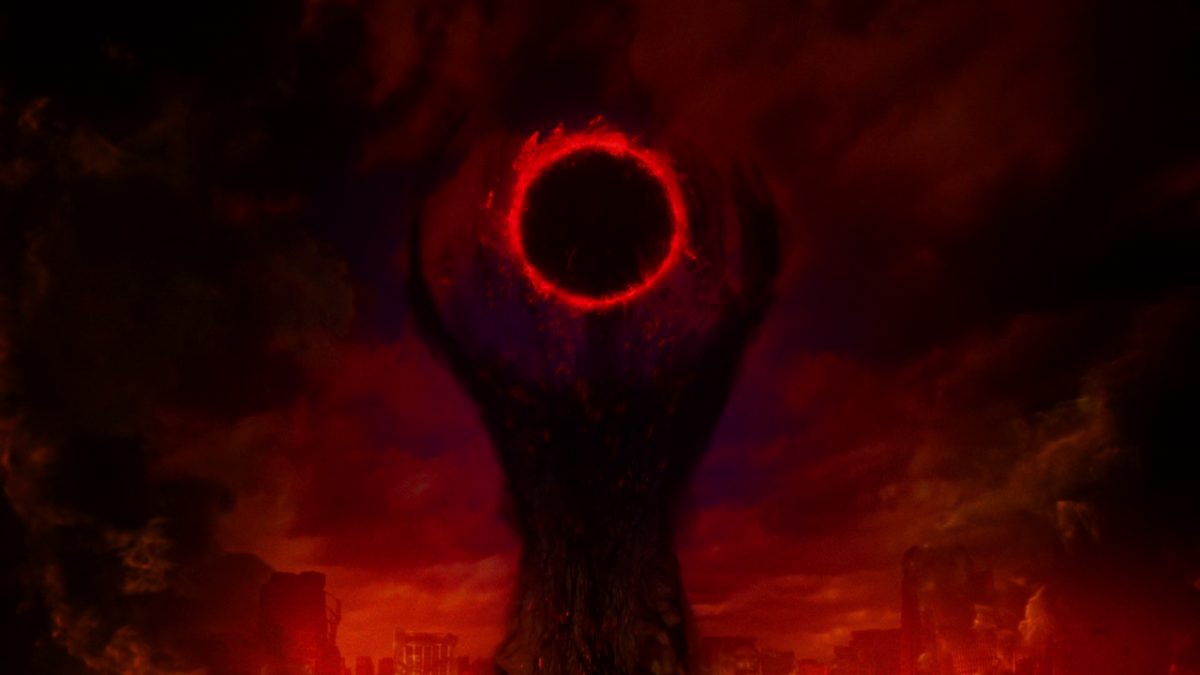 The hellscape that haunts Shirou's nightmares is overshadowed by an ominous image.