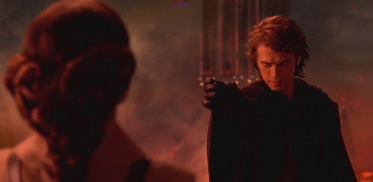 Anakin chokes Padme