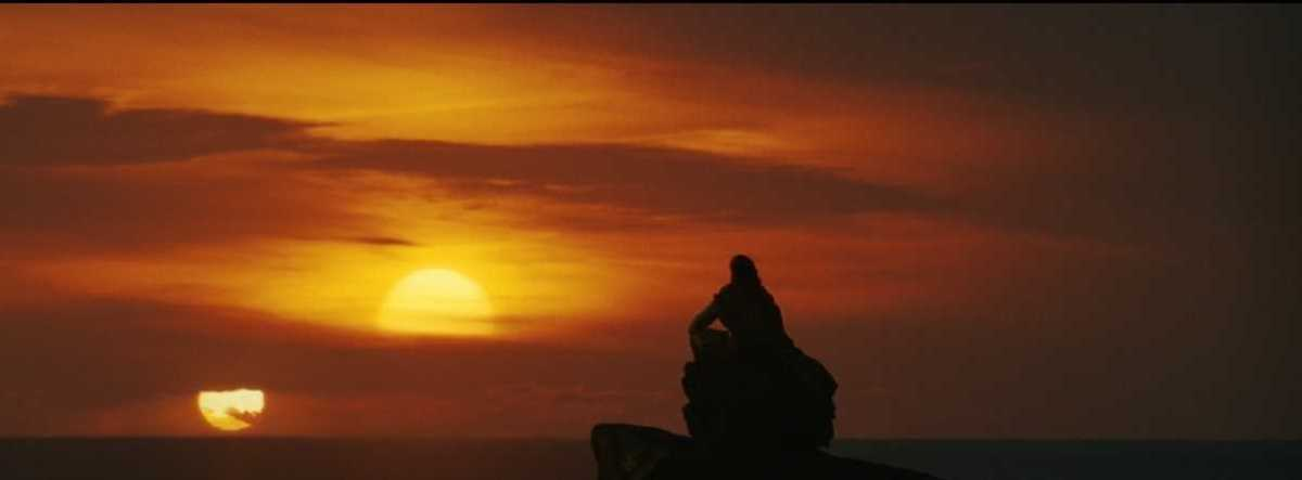 Honestly no better way for him to go out than looking at the twin suns