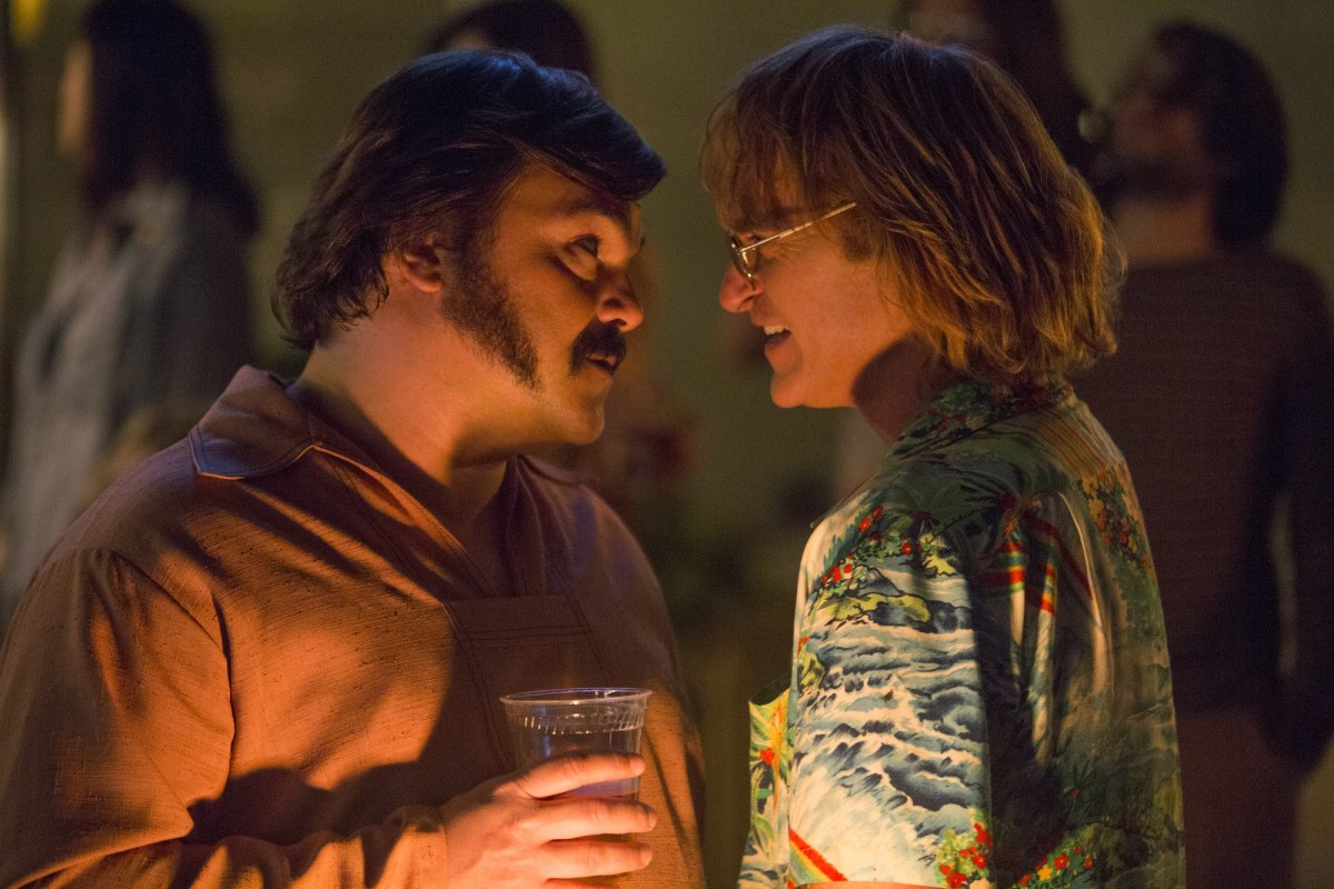 "Jack Black and Joaquin Phoenix as Dexter and John Callahan in, ""Don't Worry, He Won't Get Far on Foot."""