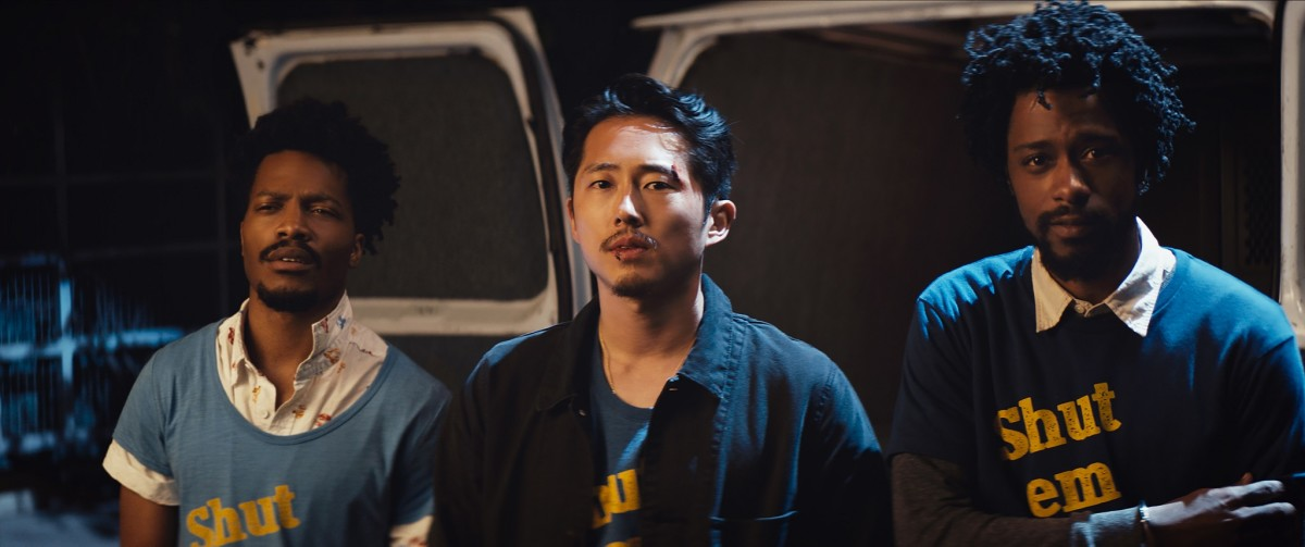 """Jermaine Fowler, Steven Yeun, and Lakeith Stanfield in, """"Sorry to Bother You."""""""