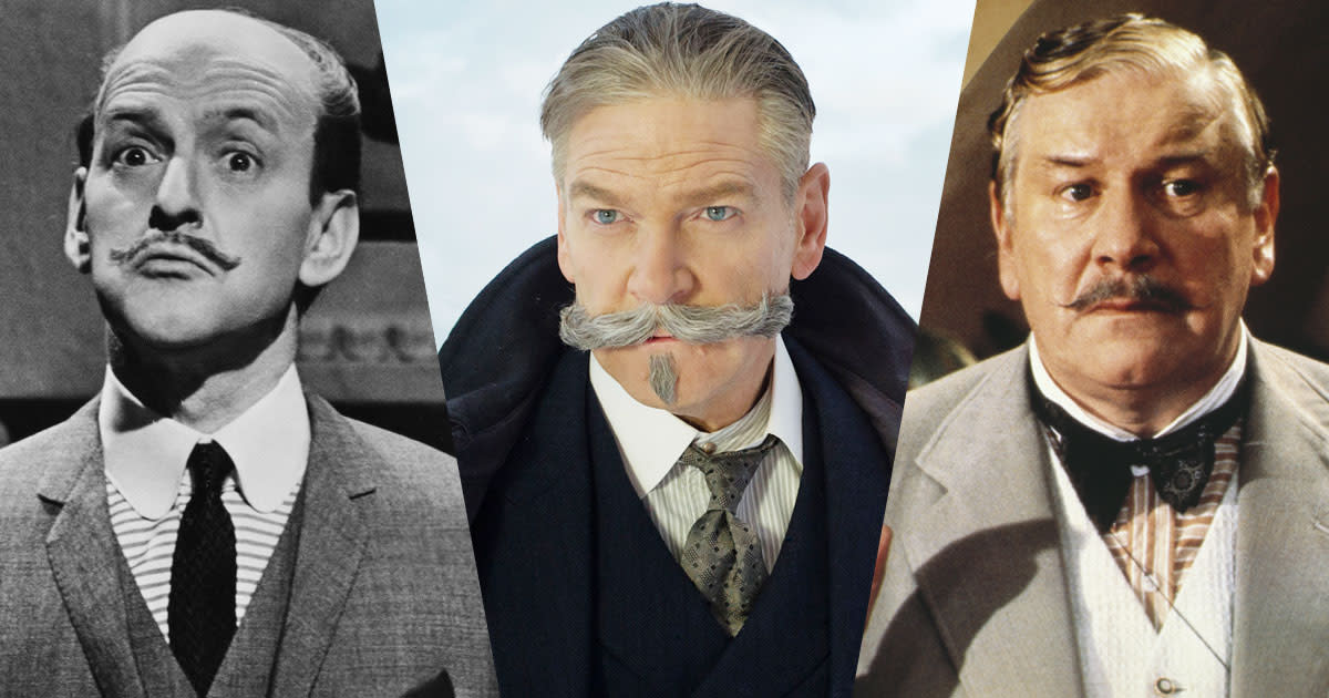 Three Poirots - Tony Randall, Kenneth Branagh, and Peter Ustinov