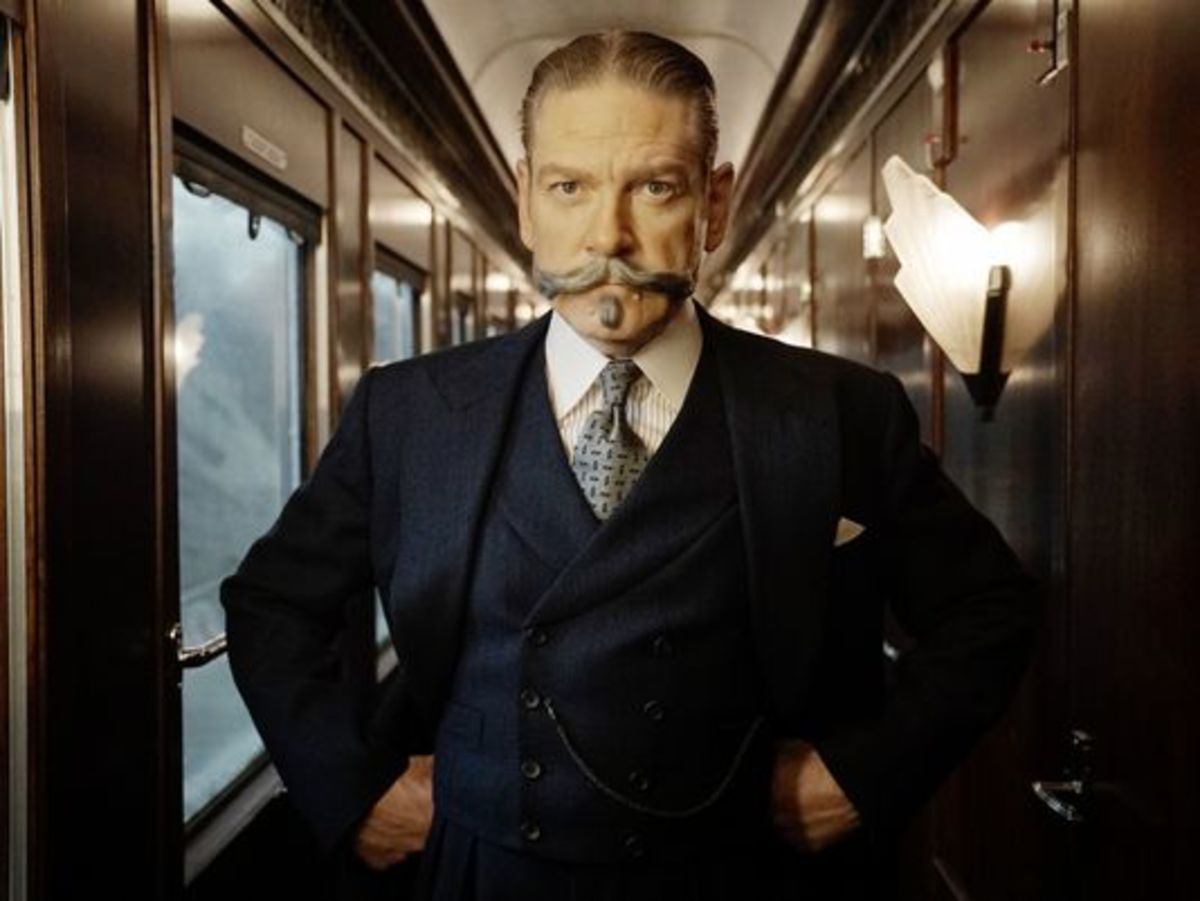 Kenneth Branagh and his outrageous mustache