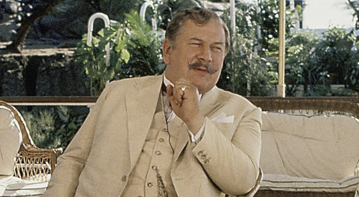 Peter Ustinov as Poirot