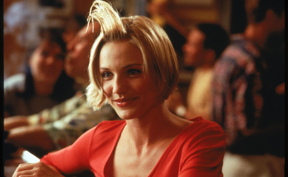 "Cameron Diaz in the infamous ""hair gel scene."""