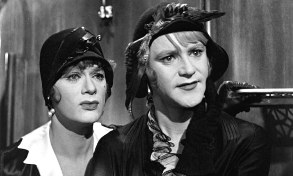 Tony Curtis and Jack Lemmon in drag.