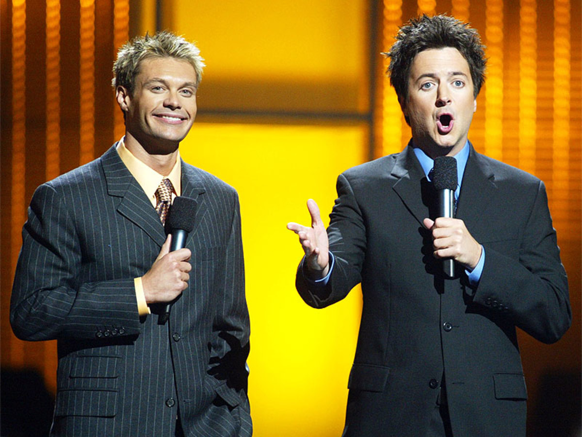 Brian Dunkleman (right) on American Idol.